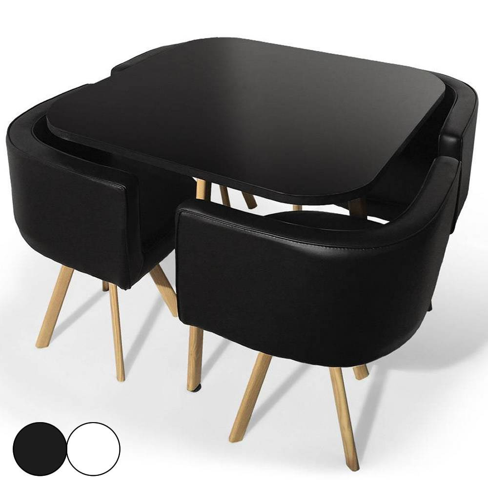 table ronde chaise encastrable id es d 39 images la maison. Black Bedroom Furniture Sets. Home Design Ideas