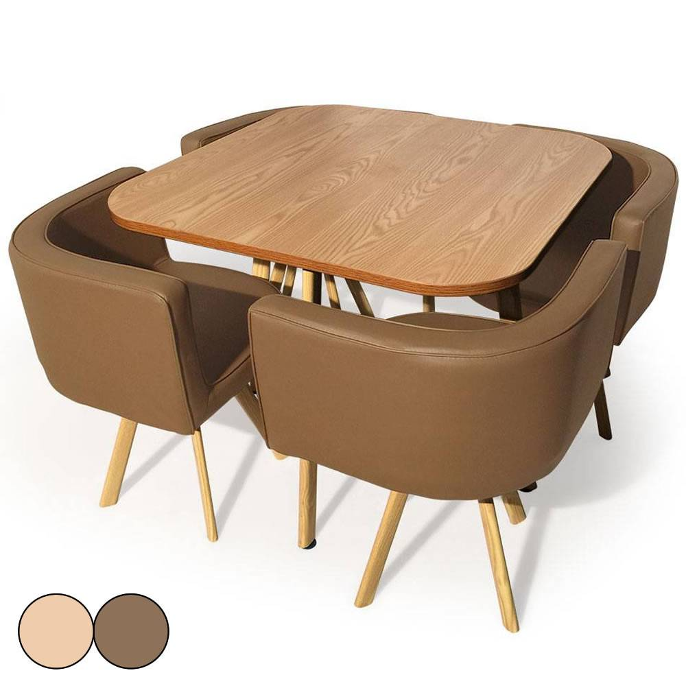 Table salle a manger scandinave - Table a manger avec chaise encastrable ...