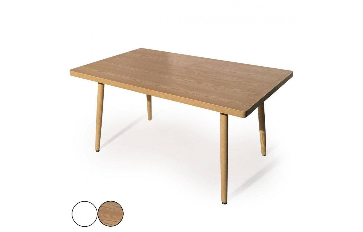 Table bois blanche for Table rectangulaire scandinave