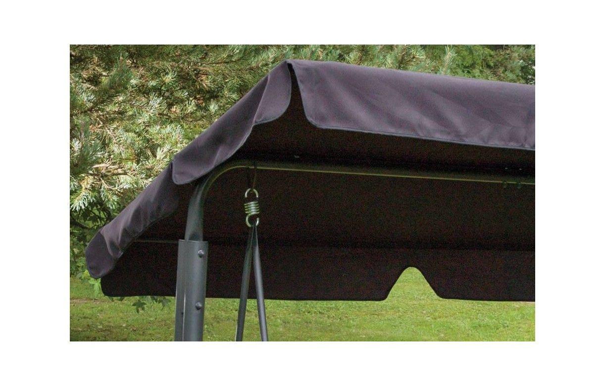 balancelle de jardin en m tal gris avec pare soleil. Black Bedroom Furniture Sets. Home Design Ideas