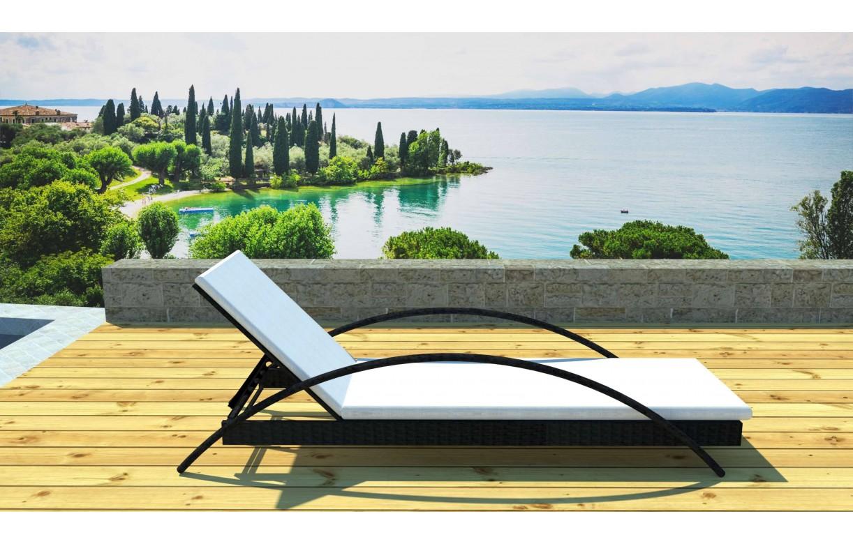Transat bain de soleil design avec matelas sanary - Bain de soleil transat ...