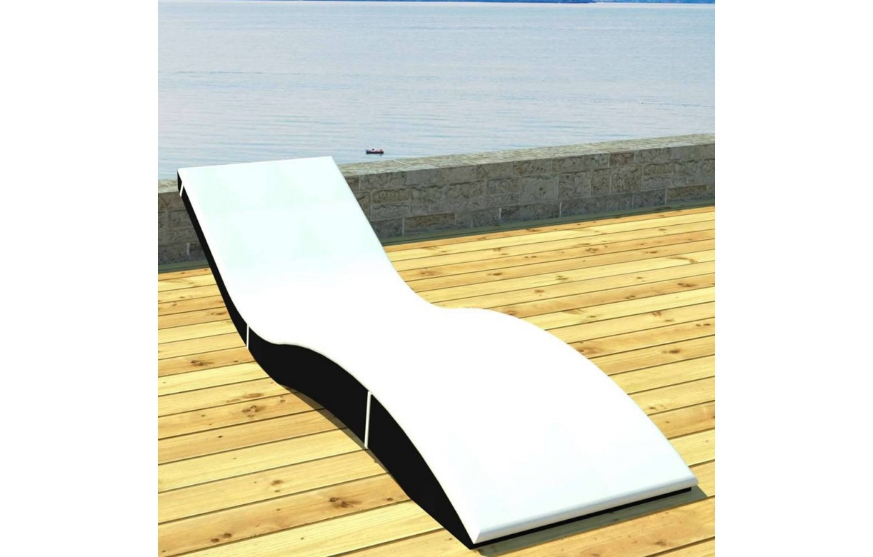 transat bain de soleil ondul avec matelas en r sine tress e la ciotat. Black Bedroom Furniture Sets. Home Design Ideas
