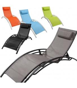 Transat gonflable de piscine wave 5 coloris decome store - Bain de soleil gonflable ...