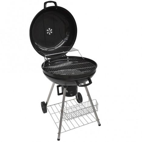 Barbecue charbon avec couvercle pas cher noir - Idees barbecue pas cher ...