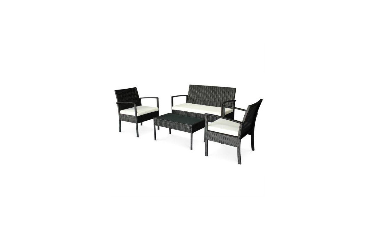 Salon de jardin r sine pas cher canap 2 fauteuils 1 table basse - Fauteuil de salon pas cher ...