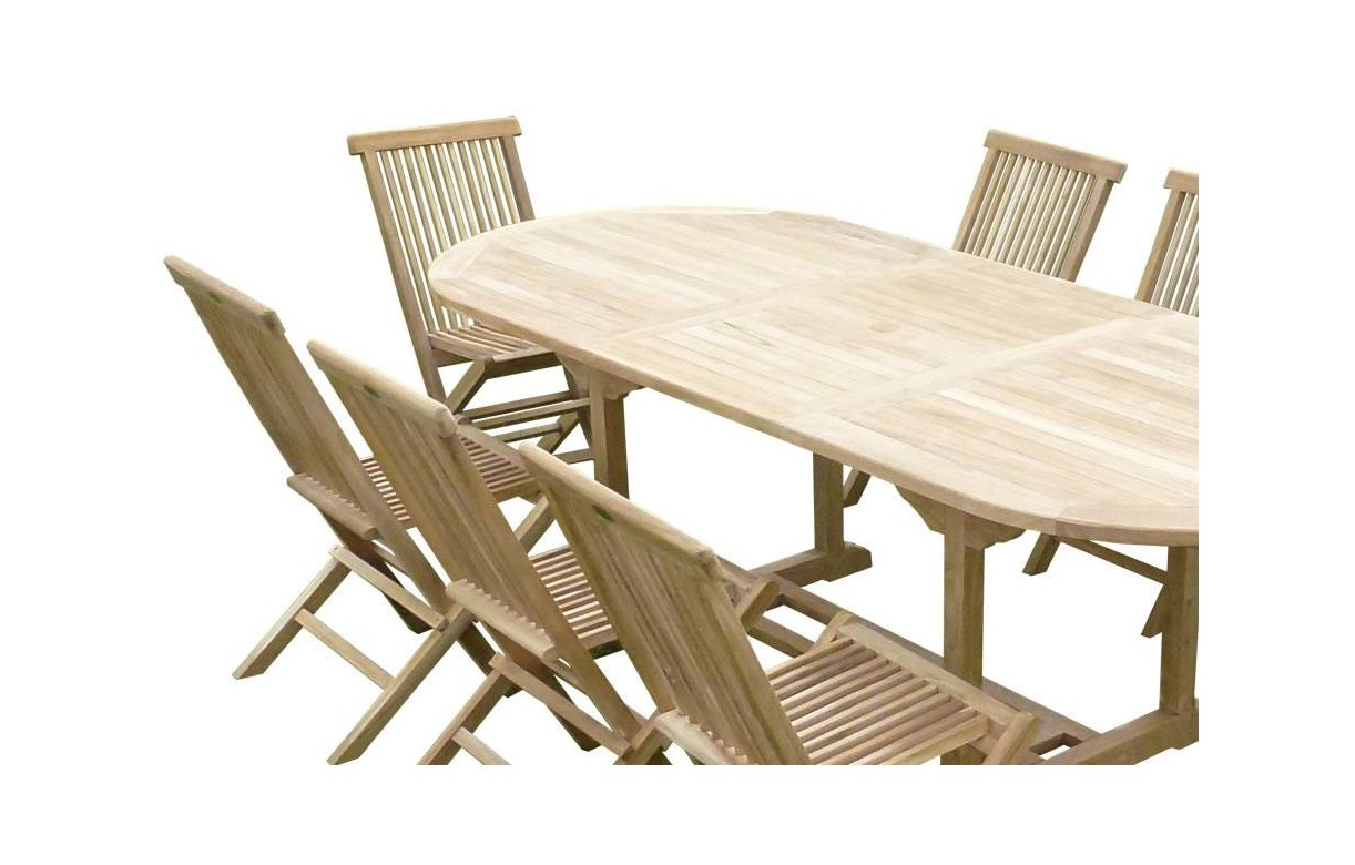 table de jardin avec rallonge et chaises. Black Bedroom Furniture Sets. Home Design Ideas