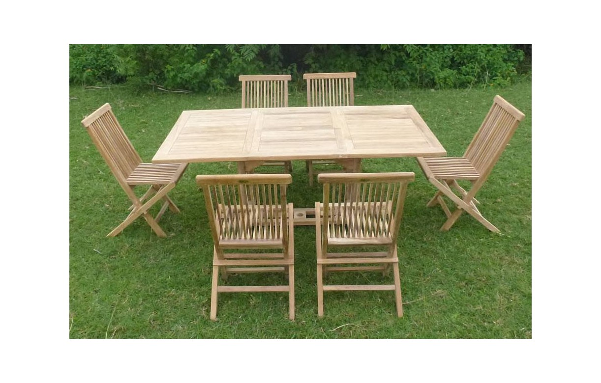 table en bois de jardin. Black Bedroom Furniture Sets. Home Design Ideas