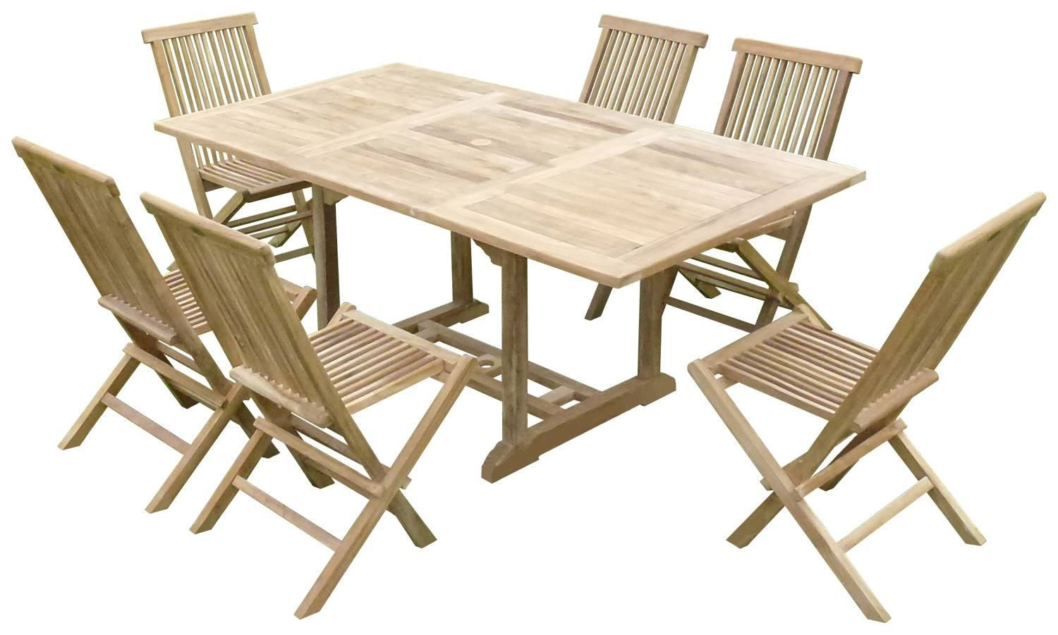 Emejing table de jardin pliante avec rallonge photos - Table pliante avec chaises integrees ...