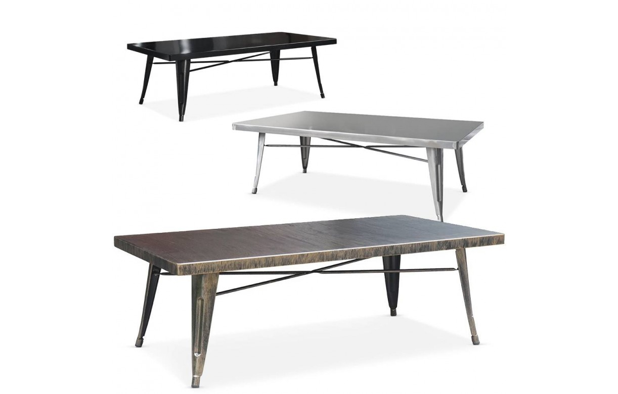 table basse metal exterieur. Black Bedroom Furniture Sets. Home Design Ideas