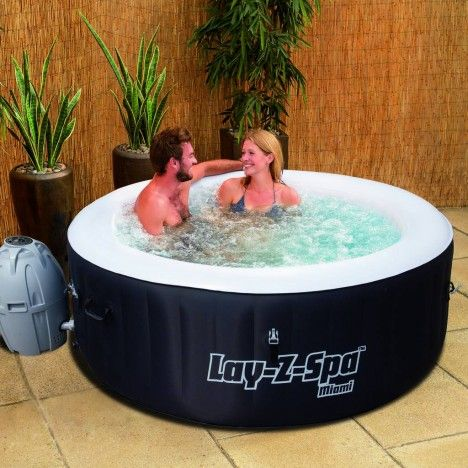 Jacuzzi gonflable rond miami 4 personnes bestway 54123 - Jacuzzi gonflable 2 personnes ...