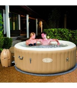Jacuzzi gonflable taupe rond Sptrings 6 personnes Bestway 54129