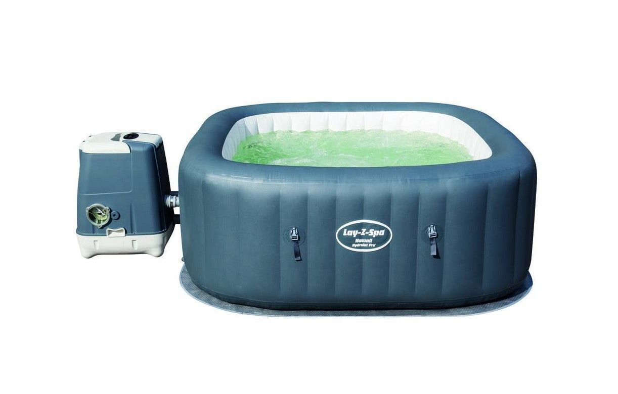 Jacuzzi gonflable carr hawaii hydrojet pro 4 6 places bestway - Jacuzzi gonflable carre ...