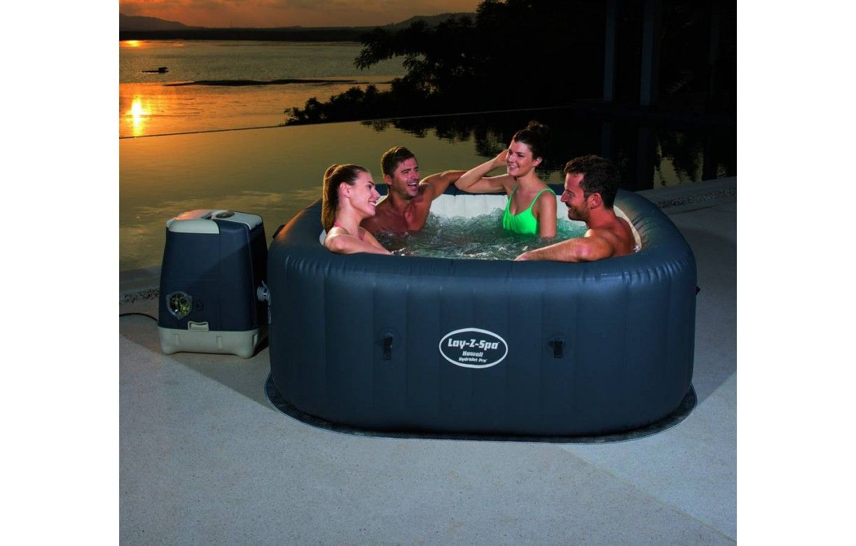 jacuzzi gonflable carr hawaii hydrojet pro 4 6 places bestway. Black Bedroom Furniture Sets. Home Design Ideas