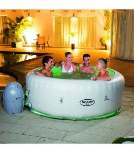 Jacuzzi gonflable rond taupe 6 personnes bestway 54129 - Jacuzzi gonflable avis ...