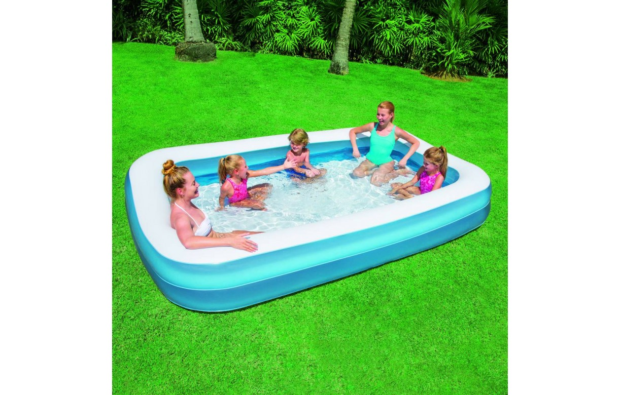 Piscine gonflable bleu pour enfant rectangle bestway for Piscine rectangulaire bestway