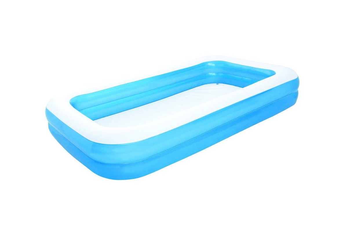 Piscine gonflable bleu pour enfant rectangle bestway for Piscine gonflable rectangulaire