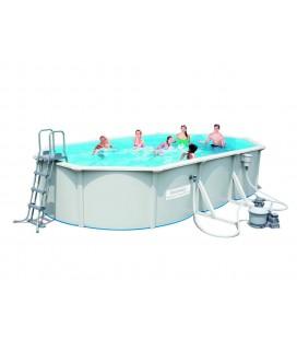 Grande piscine en kit ovale 610cm blanche Bestway 56369