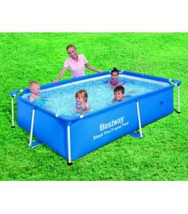 Petite piscine pour enfants 240 x 150 x 60 cm bleu