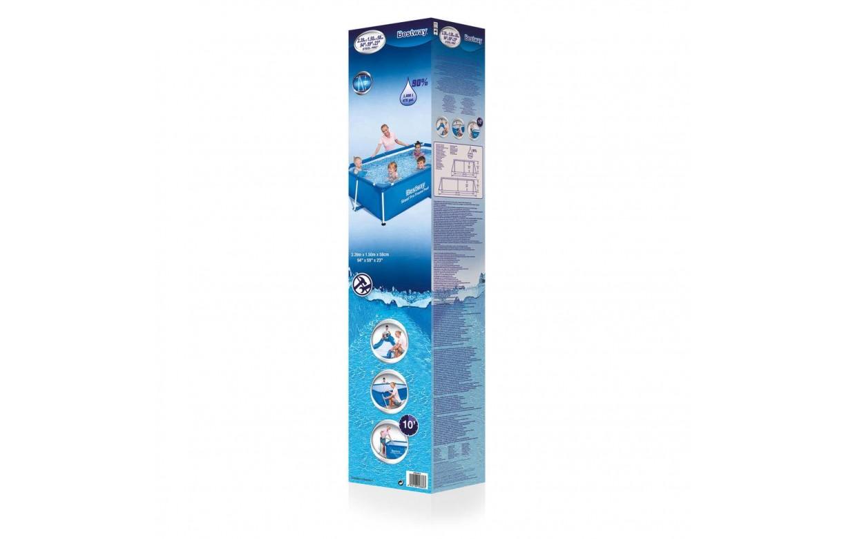 Petite piscine pour enfants 240 x 150 x 60 cm bleu for Piscine pour enfants