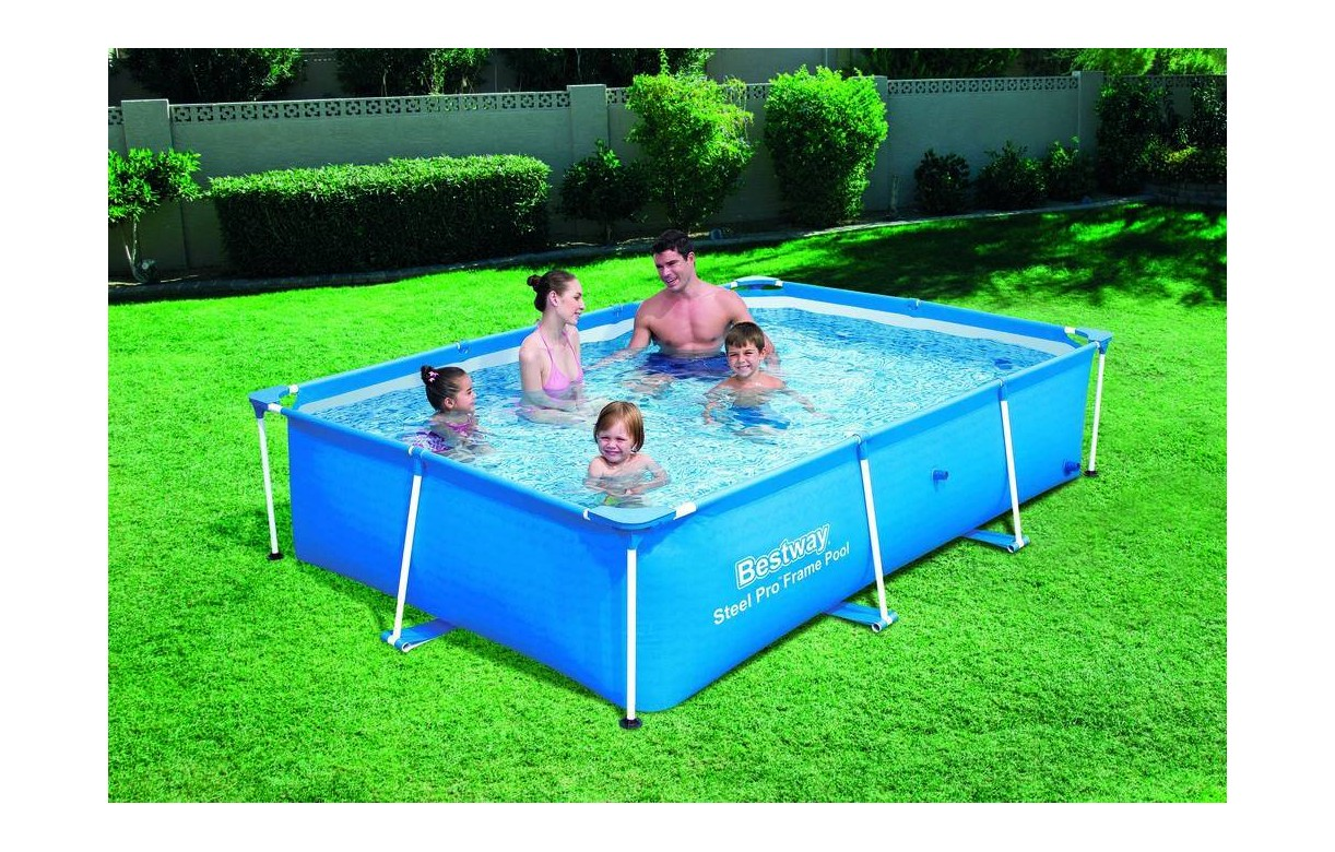 Piscine bassin bleue pour famille 260 x 170 x 60 cm bestway for Bassin piscine
