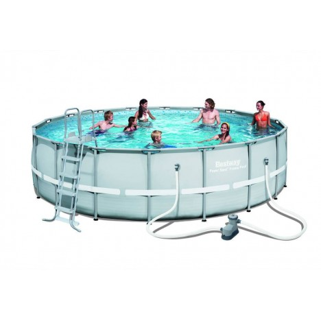 Piscine ronde hors sol d550cm avec filtre b che echelle et tapis - Bache piscine hors sol ronde ...