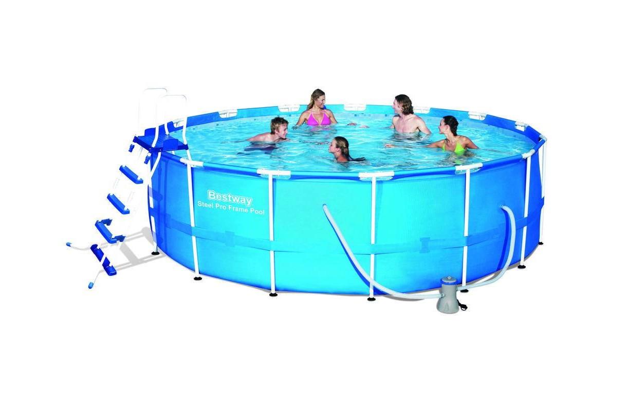 Piscine ronde tubulaire 460cm avec bache filtre echelle et tapis for Echelle piscine design