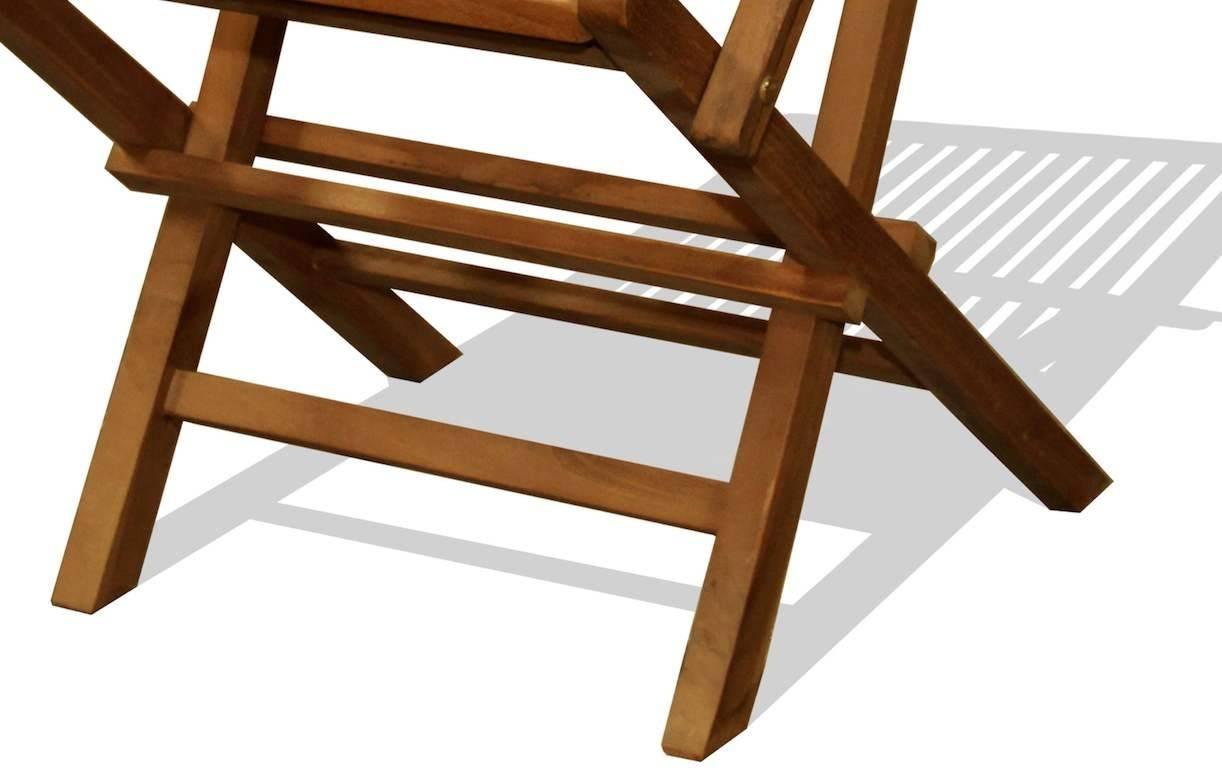 Chaise de jardin en teck brut avec accoudoirs lot de 2 for Lot chaise de jardin