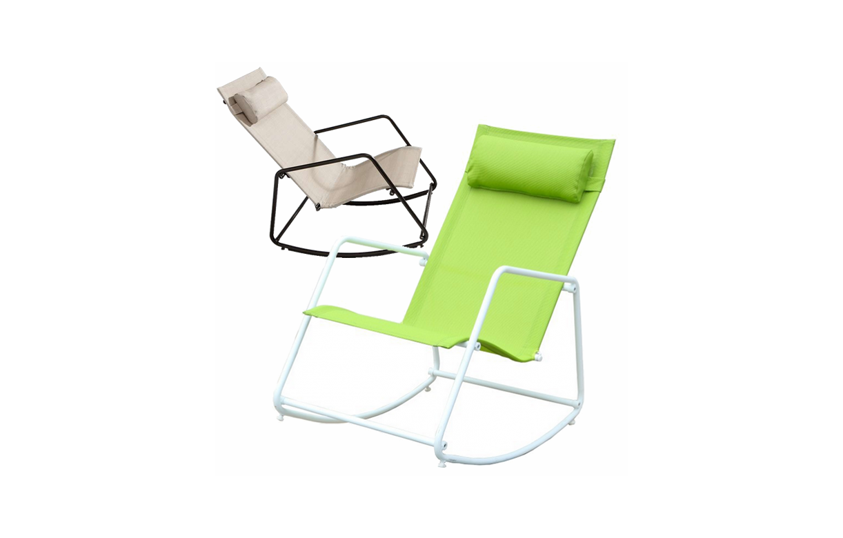 fauteuil bascule de jardin type rocking chair beige ou. Black Bedroom Furniture Sets. Home Design Ideas