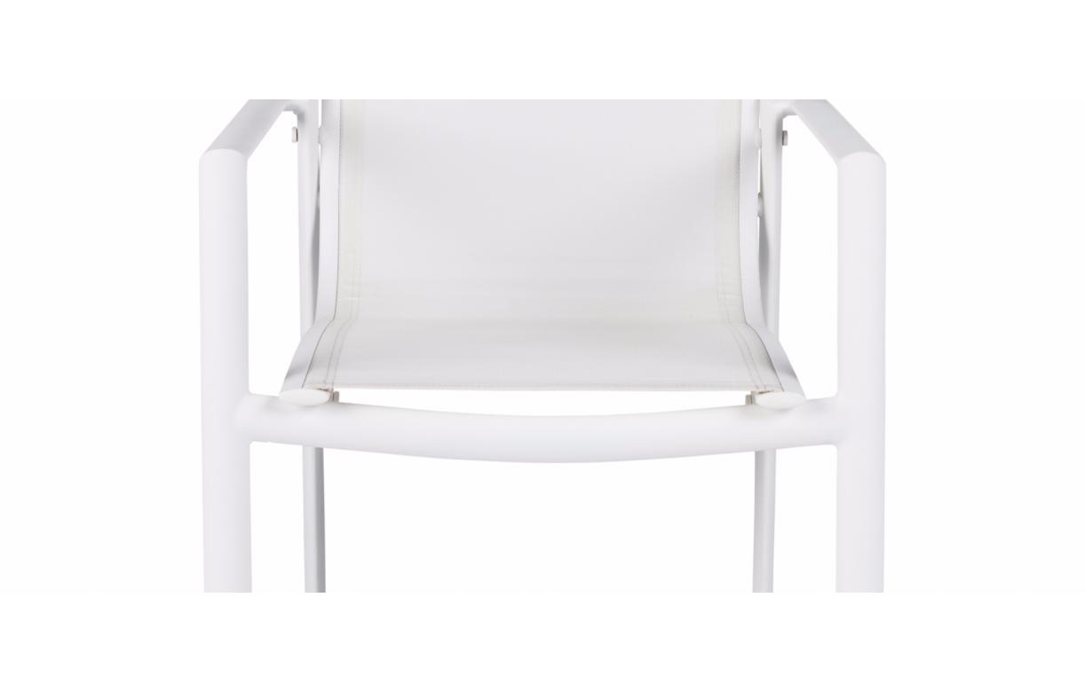 table et chaises de jardin taupe et blanc en aluminium et. Black Bedroom Furniture Sets. Home Design Ideas