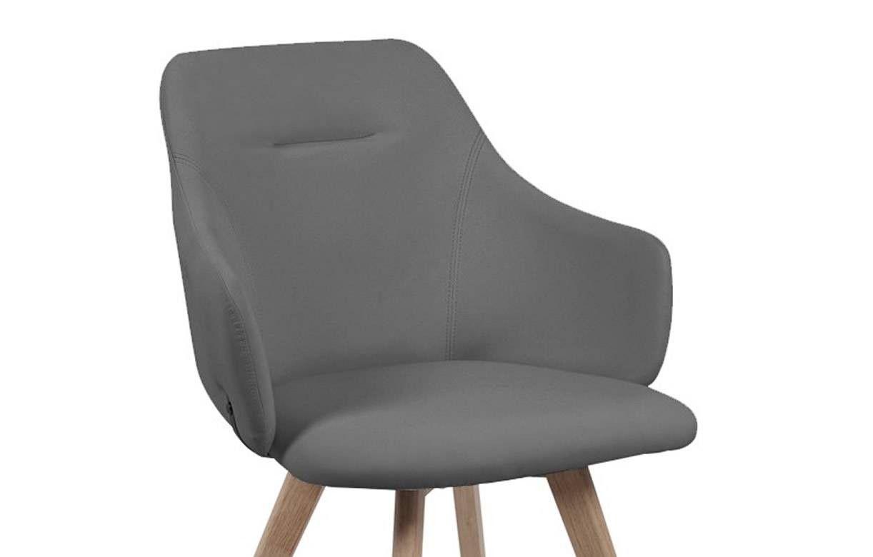 chaise avec accoudoirs style scandinave set de 2. Black Bedroom Furniture Sets. Home Design Ideas