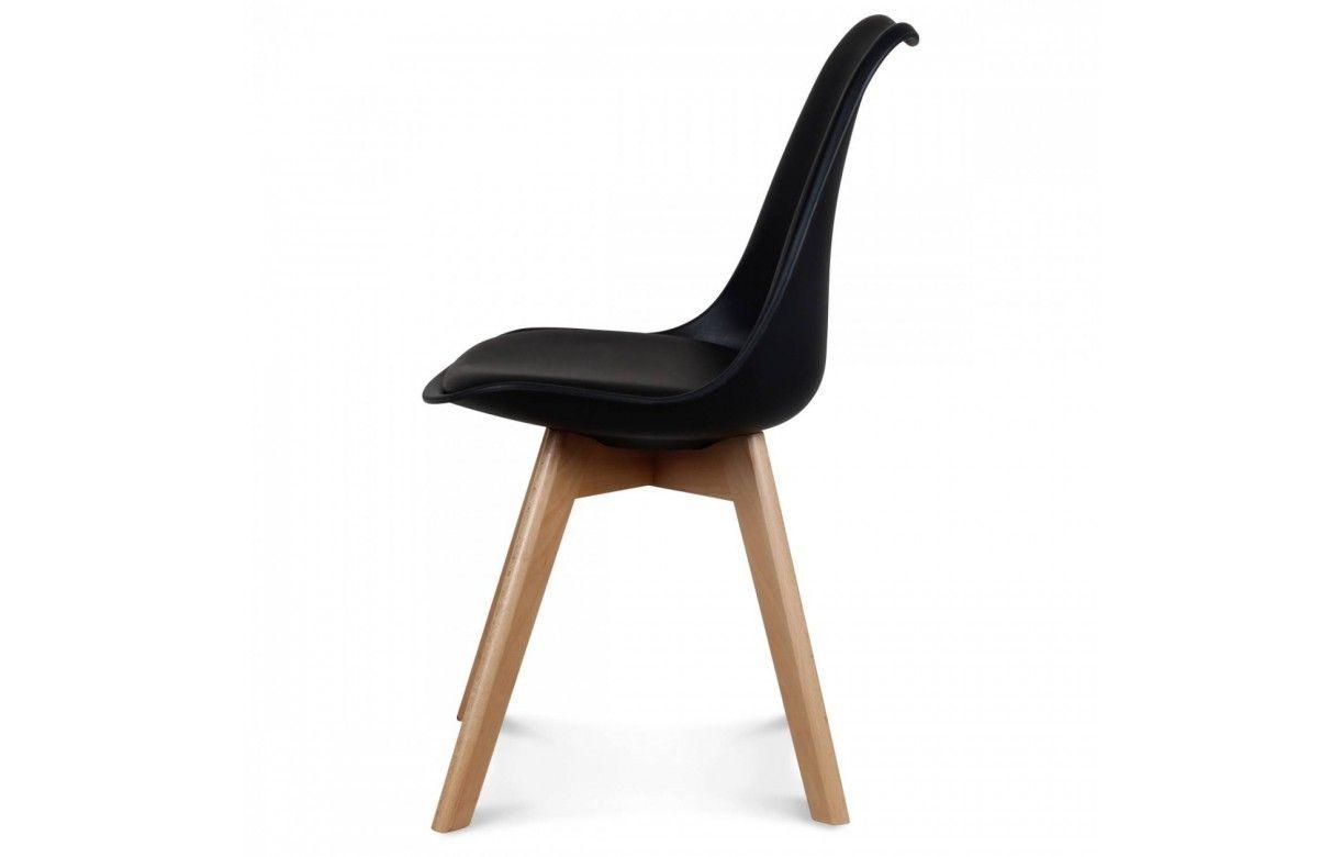 Chaise scandinave et pieds en bois scany lot de 2 - Chaise salle a manger coloree ...