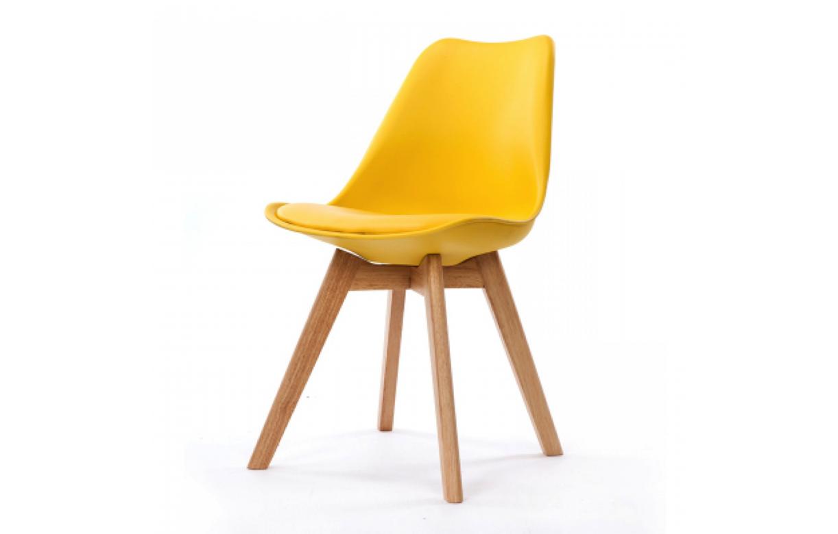 Chaise scandinave et pieds en bois scany lot de 4 - Chaise avec pied en bois ...