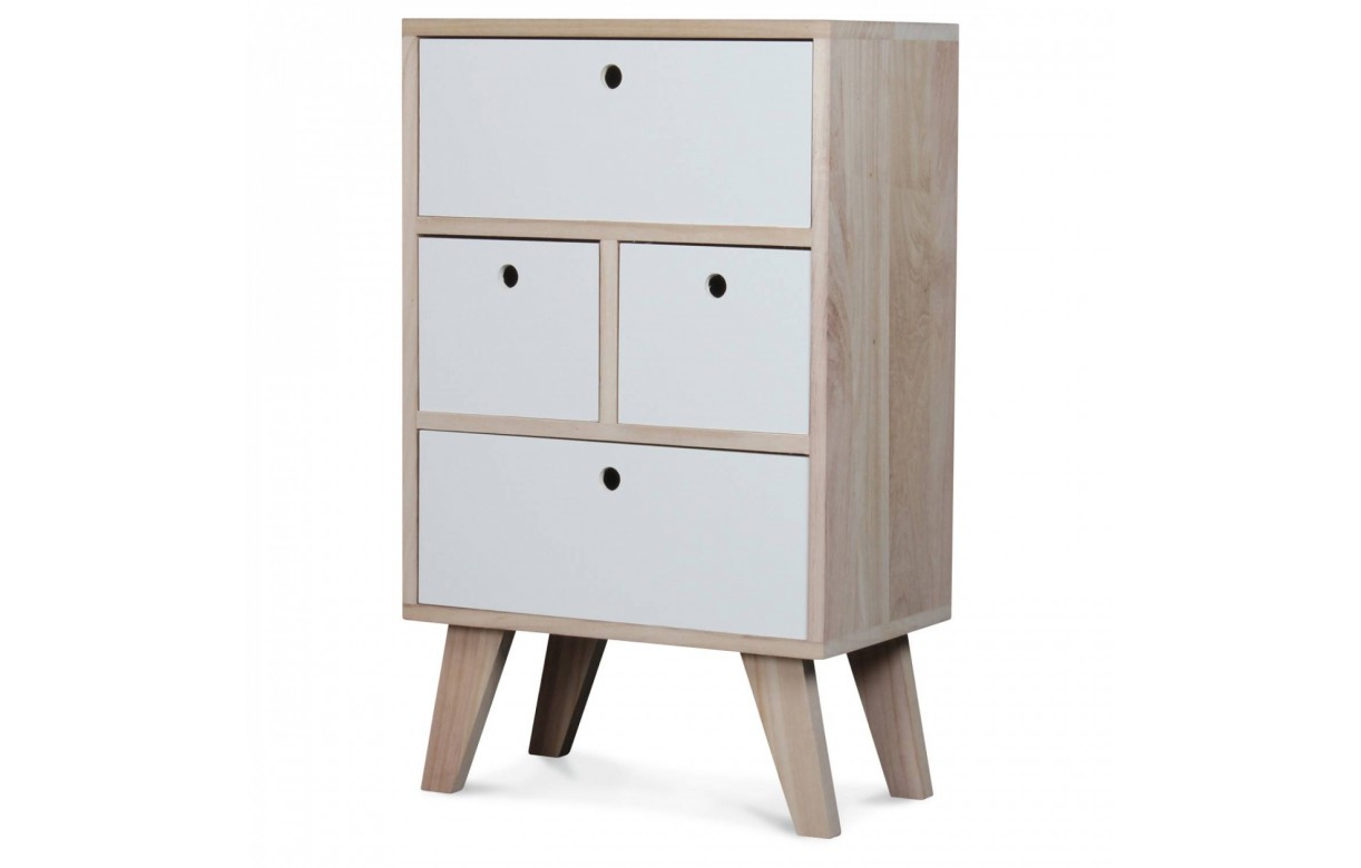 meuble de rangement style scandinave blanc en bois 4. Black Bedroom Furniture Sets. Home Design Ideas