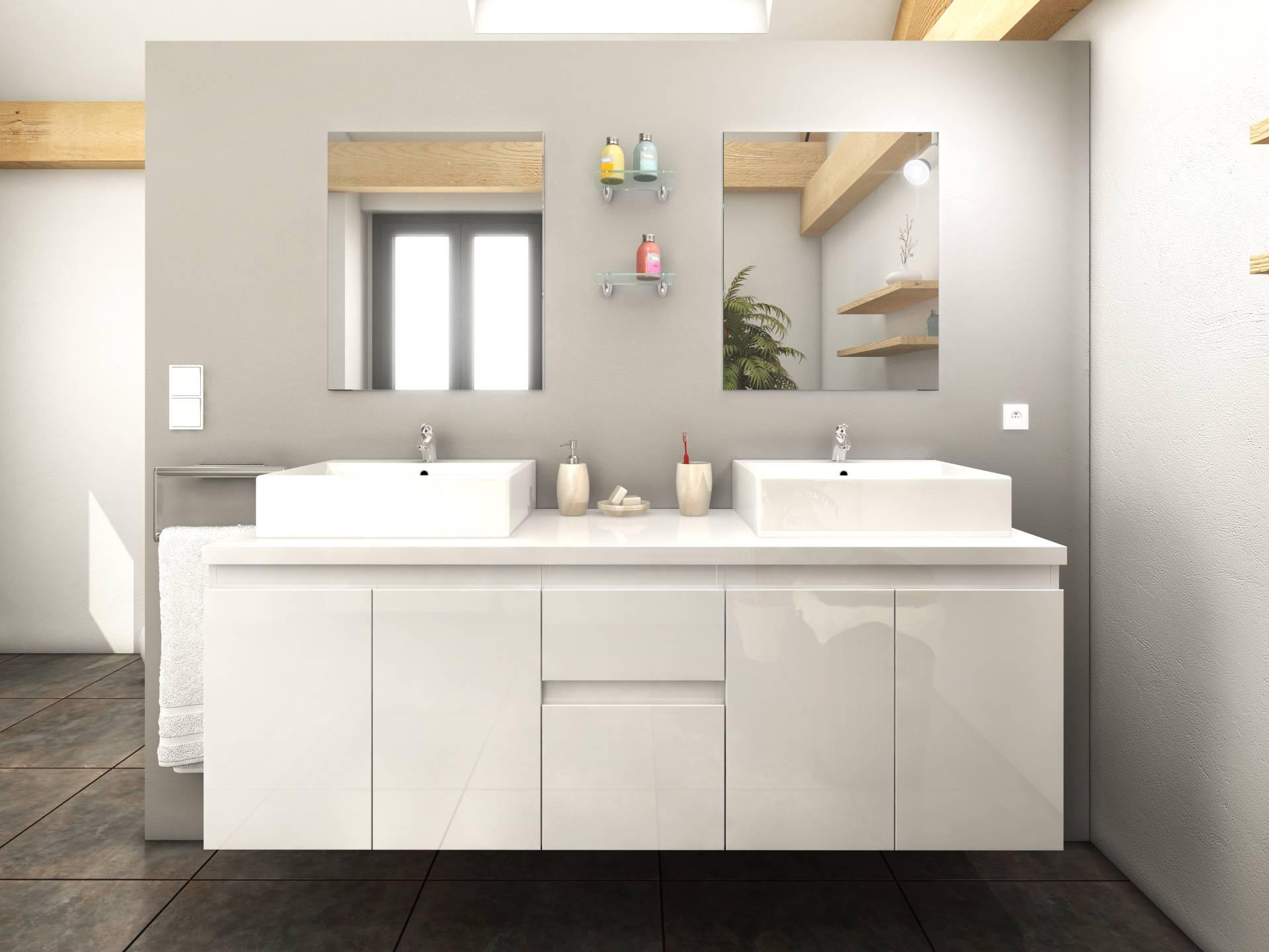 Robinetterie salle de bain noire for Meuble de salle de bain deux portes