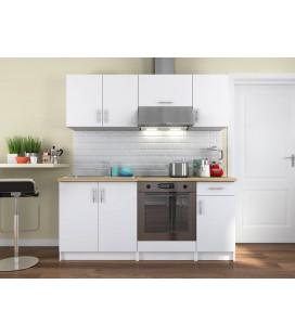 Ensemble meubles de cuisine noir pour studio 180 cm maria - Plan de travail cuisine largeur 90 cm ...