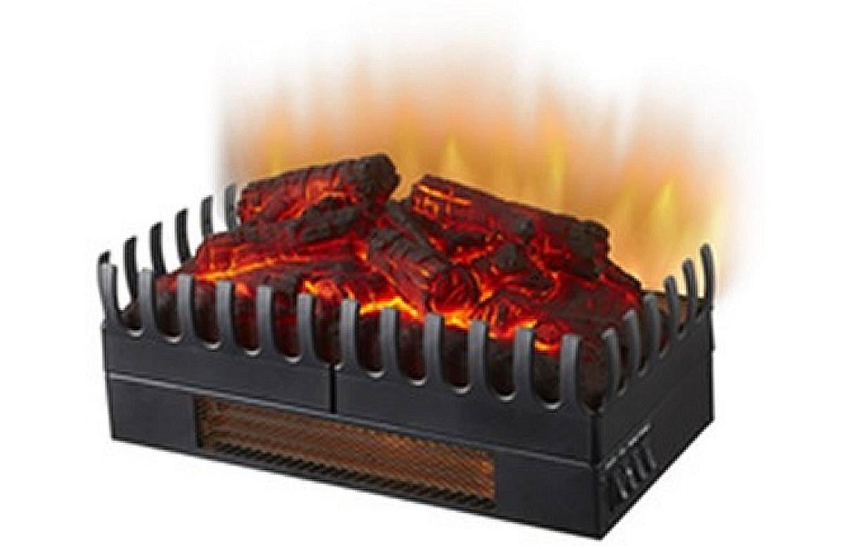 Foyer de cheminée électrique feu de bois   flammes chauffage 2000w