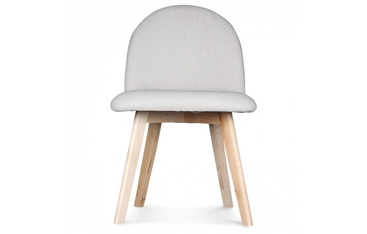 Chaise avec pied en bois conceptions de maison for Chaise cuir pied bois