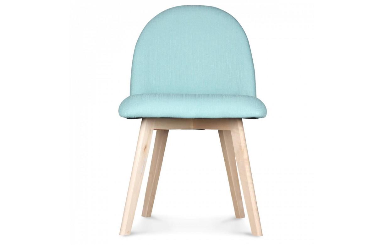 Chaise scandinave pastel avec pieds en bois ivar - Chaise avec pied en bois ...