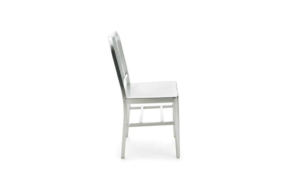 Chaise en aluminium bross int gral yealy decome store - Chaise alu brosse ...