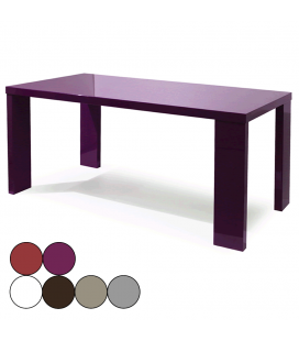 Table de repas laquée 160 x 80 cm Liny