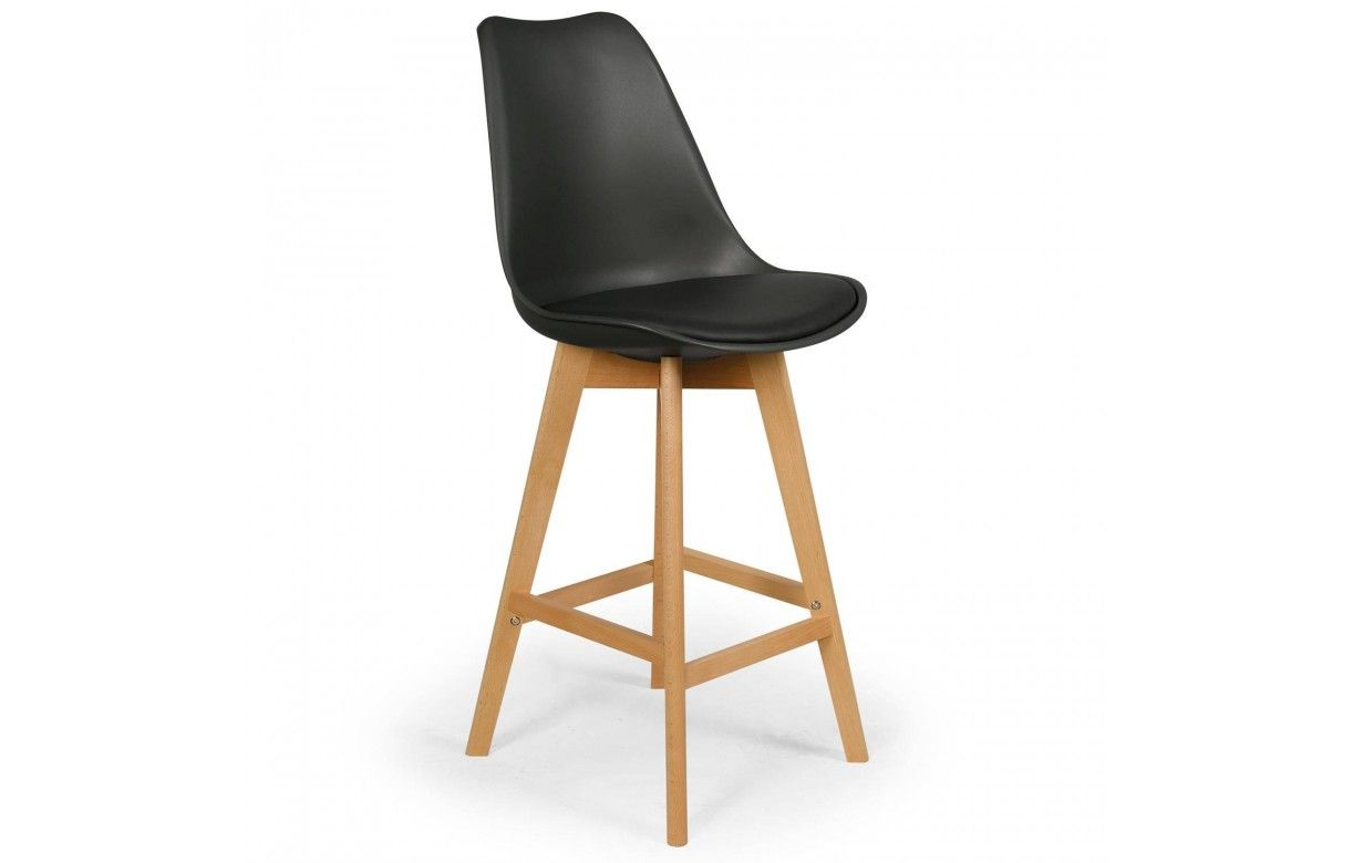 Chaise de bar style eames lot de 4 - Chaise de bar grise ...