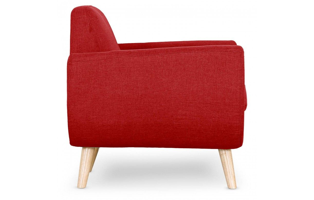 fauteuil tissu bleu turquoise et pieds bois clair scandinave. Black Bedroom Furniture Sets. Home Design Ideas