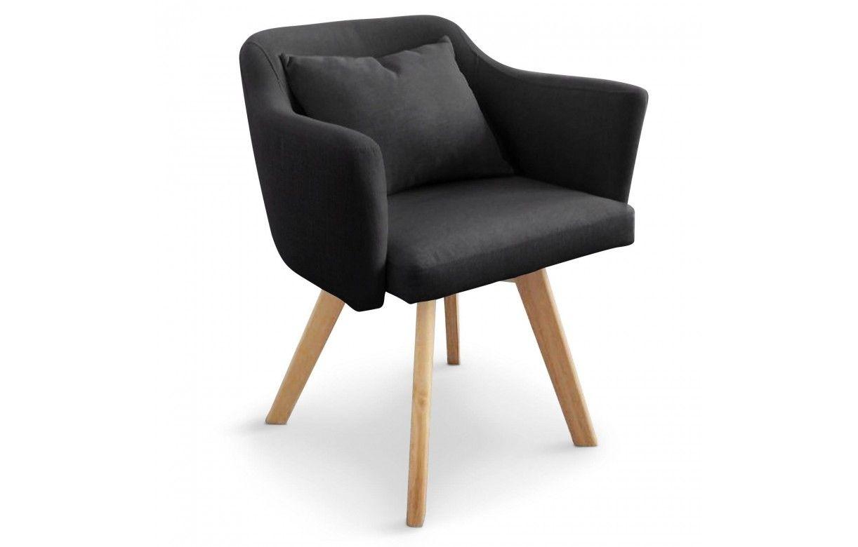 chaise fauteuil scandinave dantes tissu 5 coloris. Black Bedroom Furniture Sets. Home Design Ideas