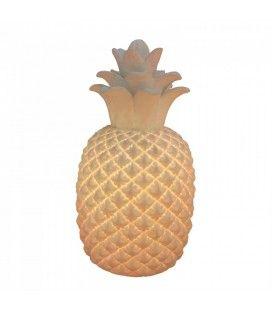 Lampe ananas décorative blanche design 30 cm