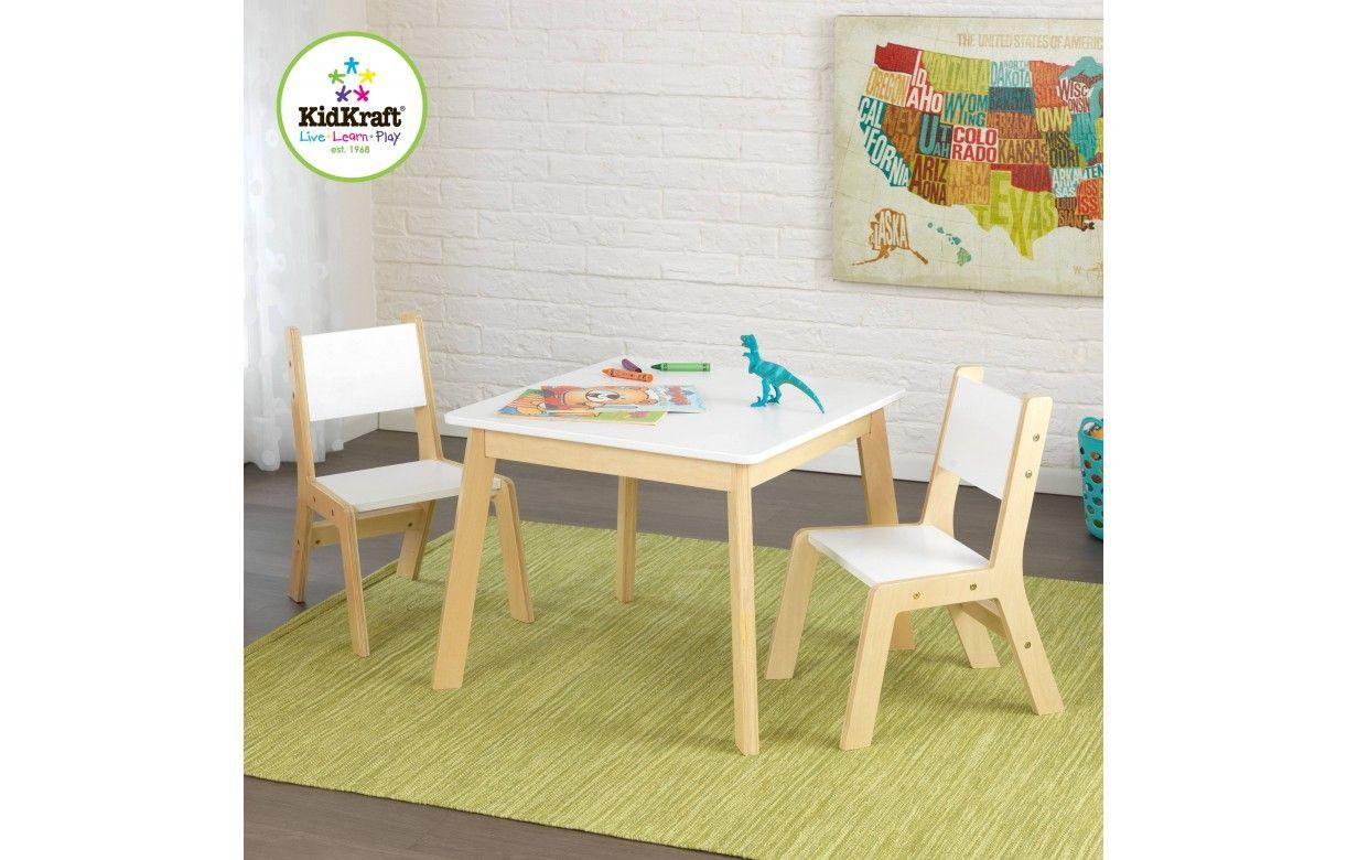 100 chaise table blanche et bois ensemble 1 table - Table et chaises blanches ...