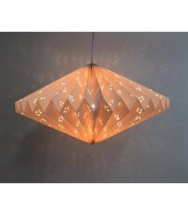 Lampion origami blanc à suspendre
