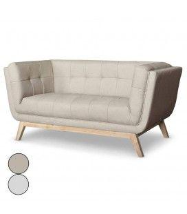 Canapé en tissu 2 places style scandinave Owen