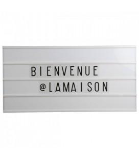 Panneau lumineux bois clair 60x30cm + 130 lettres