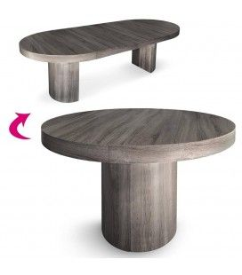 Table en bois decome store for Table extensible effet beton