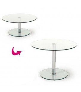 Table basse articulée en verre Berenice